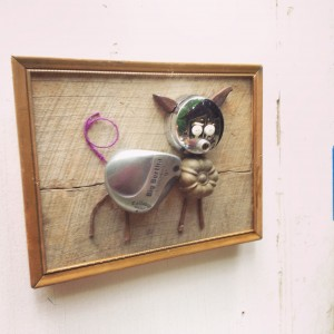 Golf Folk Art made from found objects and reclaimed wood